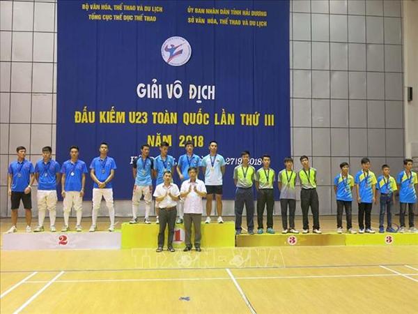 Bế mạc Giải vô địch Đấu kiếm U23 toàn quốc lần thứ III năm 2018