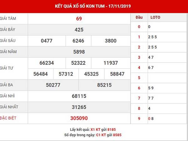 Dự đoán kết quả XS Kon Tum chủ nhật ngày 24-11-2019