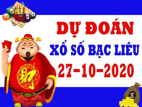Dự đoán XSBL ngày 27/10/2020 – Soi cầu chốt lô số đẹp xổ số Bạc Liêu